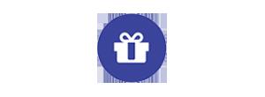 dark blue gift